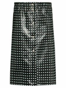 Supriya Lele cross-print rubber midi skirt - Black