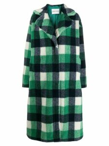 STAND STUDIO checked overcoat - Green