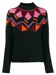 PS Paul Smith geometric knit jumper - Blue