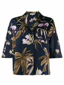 Vince floral print shirt - Blue