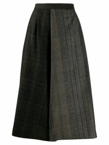 Stephan Schneider A-line patchwork skirt - Brown