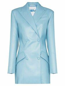 Aleksandre Akhalkatsishvili longline double breasted blazer - Blue