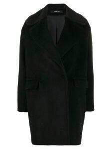 Tagliatore wide-lapel midi coat - Black