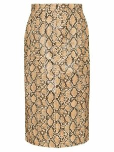 Johanna Ortiz Poema pencil skirt - Neutrals