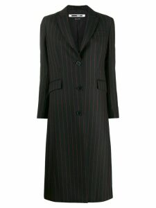 McQ Alexander McQueen striped midi coat - Black
