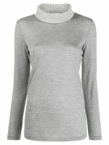 Fabiana Filippi roll neck knitted top - Grey
