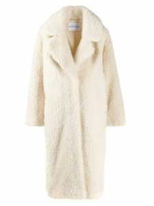 STAND STUDIO Clara faux-shearling coat - Neutrals