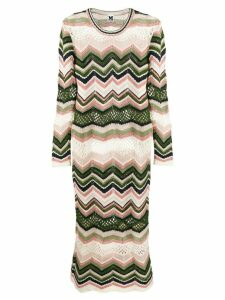 M Missoni zig-zag knit dress - Green