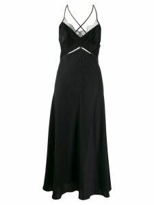 Victoria Beckham lace details slip dress - Black