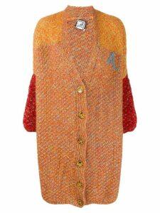 Anntian deep V-neck cardigan - Orange