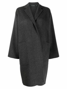 Sofie D'hoore wrap-style single-breasted coat - Grey