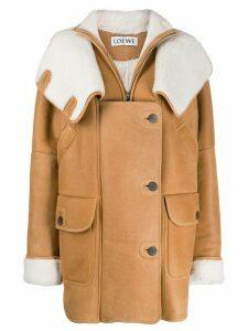 Loewe oversized shearling coat - Neutrals