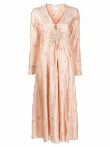 Forte Forte satin ruched waist shift dress - Pink