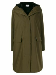 Aspesi shearling lined parka coat - Green