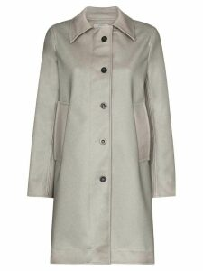 Ashley Williams Dolly button-up faux leather coat - Green