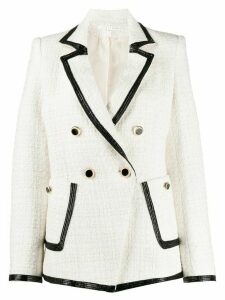 Veronica Beard contrast-trim fitted blazer - Neutrals