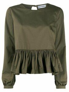 Molly Goddard ruffled hem blouse - Green