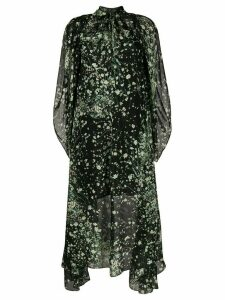 Givenchy floral print layered dress - Black