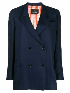 PS Paul Smith boxy fit double-buttoned blazer - Blue