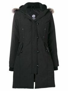 Canada Goose hooded zip-up parka - Black