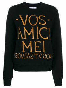 Moschino logo slogan sweatshirt - Black