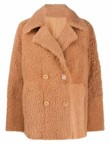 Drome reversible shearling coat - Brown