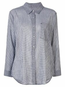 7 For All Mankind oversized gingham shirt - Black