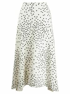 Stella McCartney polka-dot midi skirt - White
