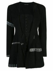 Yohji Yamamoto corseted layer blazer - Black