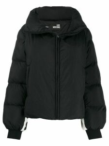 Love Moschino short padded coat - Black