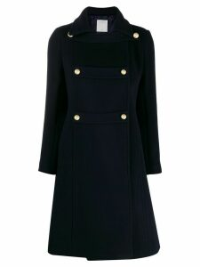 Sandro Paris double-breasted military coat - Blue