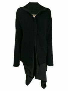 Uma Wang draped layer coat - Black