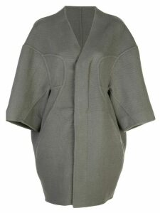 Rick Owens collarless oversized coat - Grey