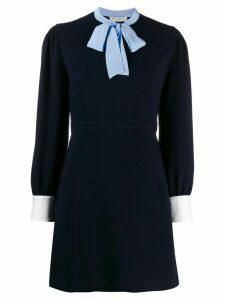 Sandro Paris a-line bow dress - Blue