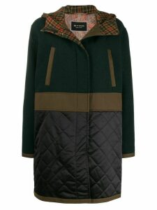 Etro contrast panel hooded parka - Green