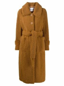 STAND STUDIO shearling coat - Brown