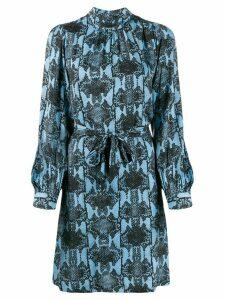 Essentiel Antwerp snake print belted waist dress - Black
