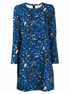 Altea leopard print short dress - Blue