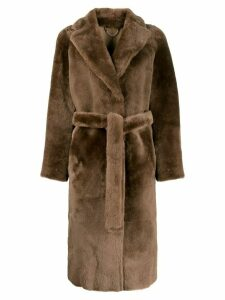 Desa 1972 reversible belted coat - Brown