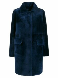 Desa 1972 reversible shearling coat - Blue