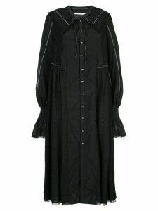 Renli Su lace trim dress - Black