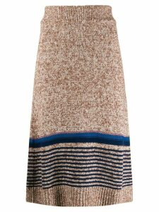 See By Chloé knitted midi skirt - Neutrals