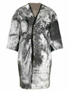 Rick Owens oversized cape coat - Grey