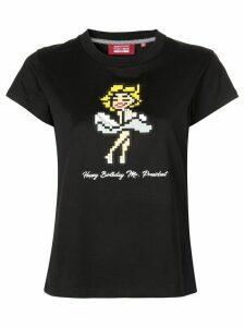 Mostly Heard Rarely Seen 8-Bit Flying Skirt T-shirt - Black