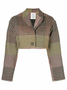 Rosie Assoulin check cropped jacket - Brown