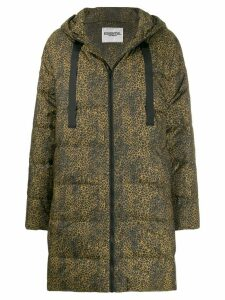 Essentiel Antwerp cheetah-print padded coat - Black