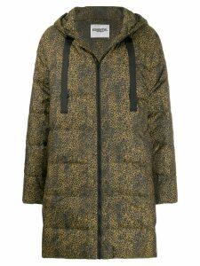 Essentiel Antwerp cheetah-print padded coat - Black