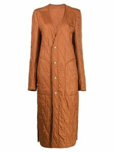 Rick Owens quilted drawstring-waist coat - Brown