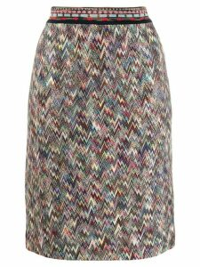 Missoni knitted pencil skirt - Neutrals