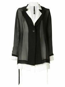 Taylor contrast sheen cover blazer - Black